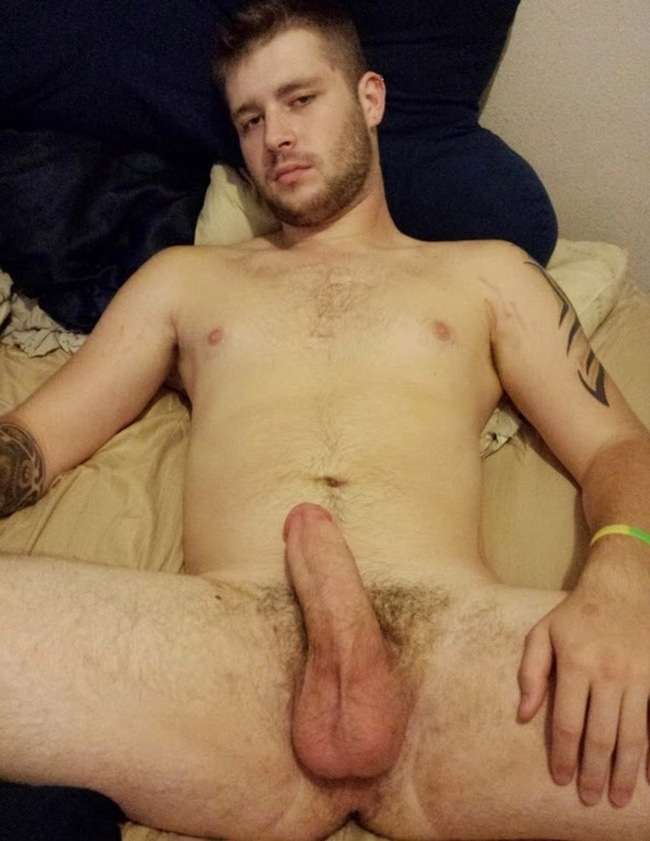 Nude Hunk Laying Naked in His Bed - Nude Man Blog