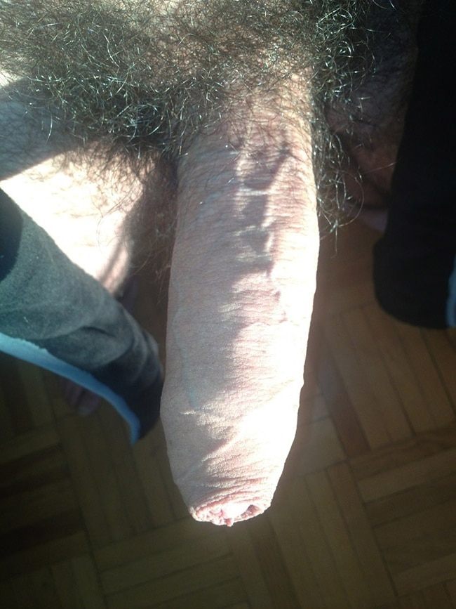 Hard Hairy Uncut Cock