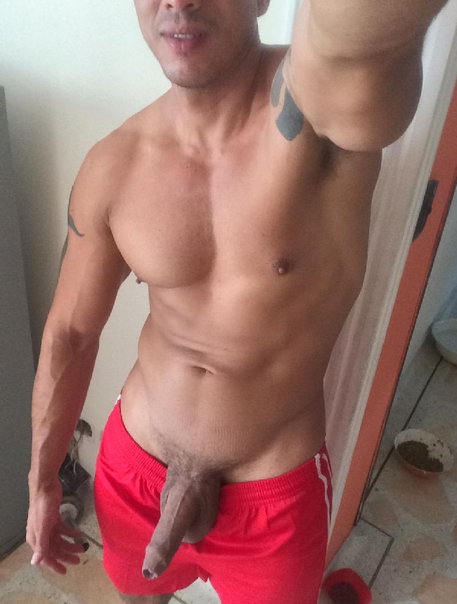 Hunk With Uncut Penis