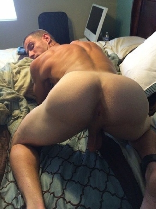Hairy butt straight dude sideways