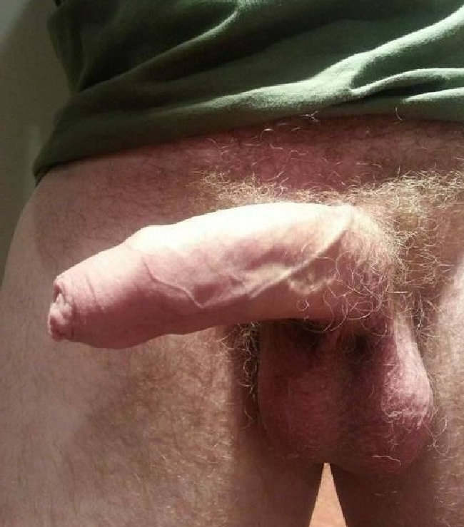 Hard Hairy Uncut Cock Bending To The Side - Nude Man Blog